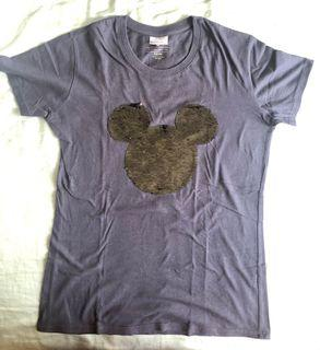 Reversible Mickey Mouse sequined shirt