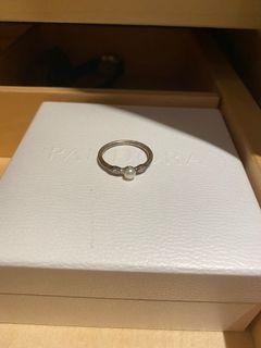 Small pearl Pandora ring size 6