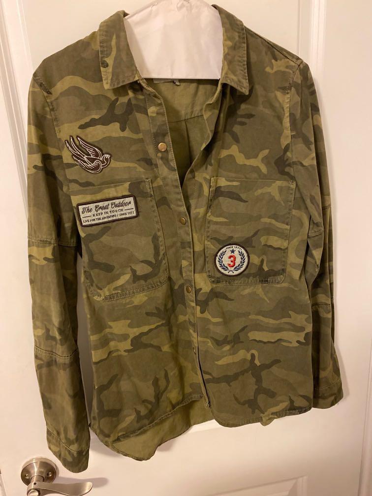 Zara army shirt