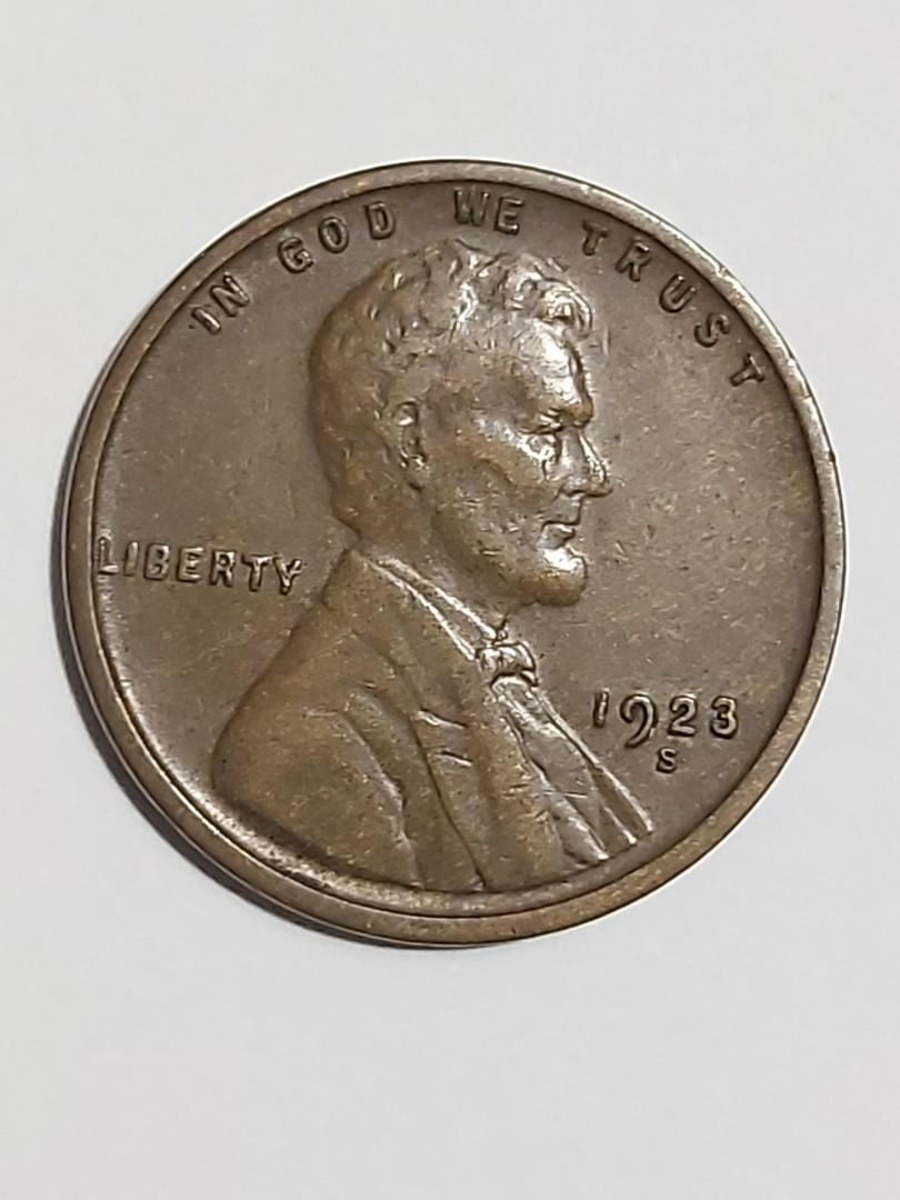 1923 San Francisco Mint Lincoln wheat cent.