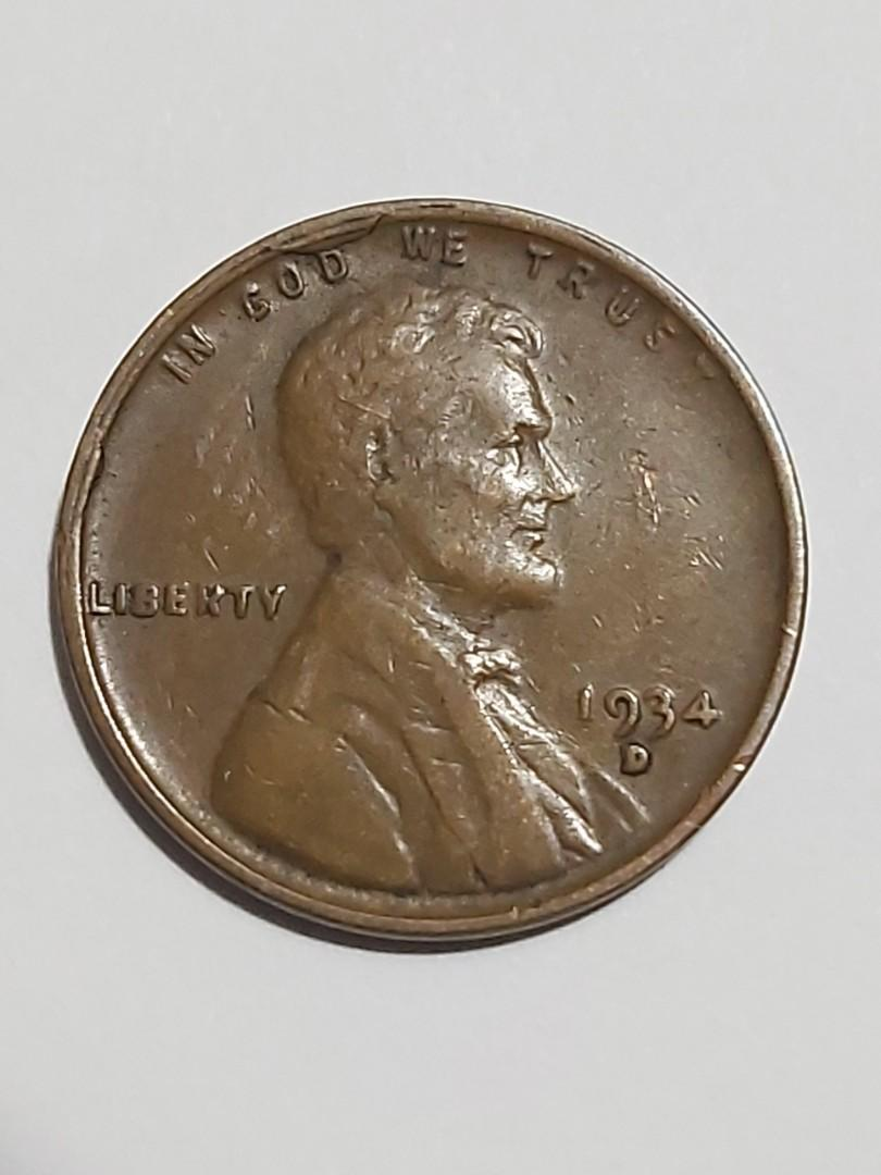 1934-D/D RPM AND CUD LINCOLN WHEAT CENT COPPER CENT ERROR