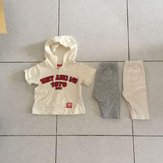 3件合售 約70cm Why and 1/2 短袖帽T 嬰兒褲子