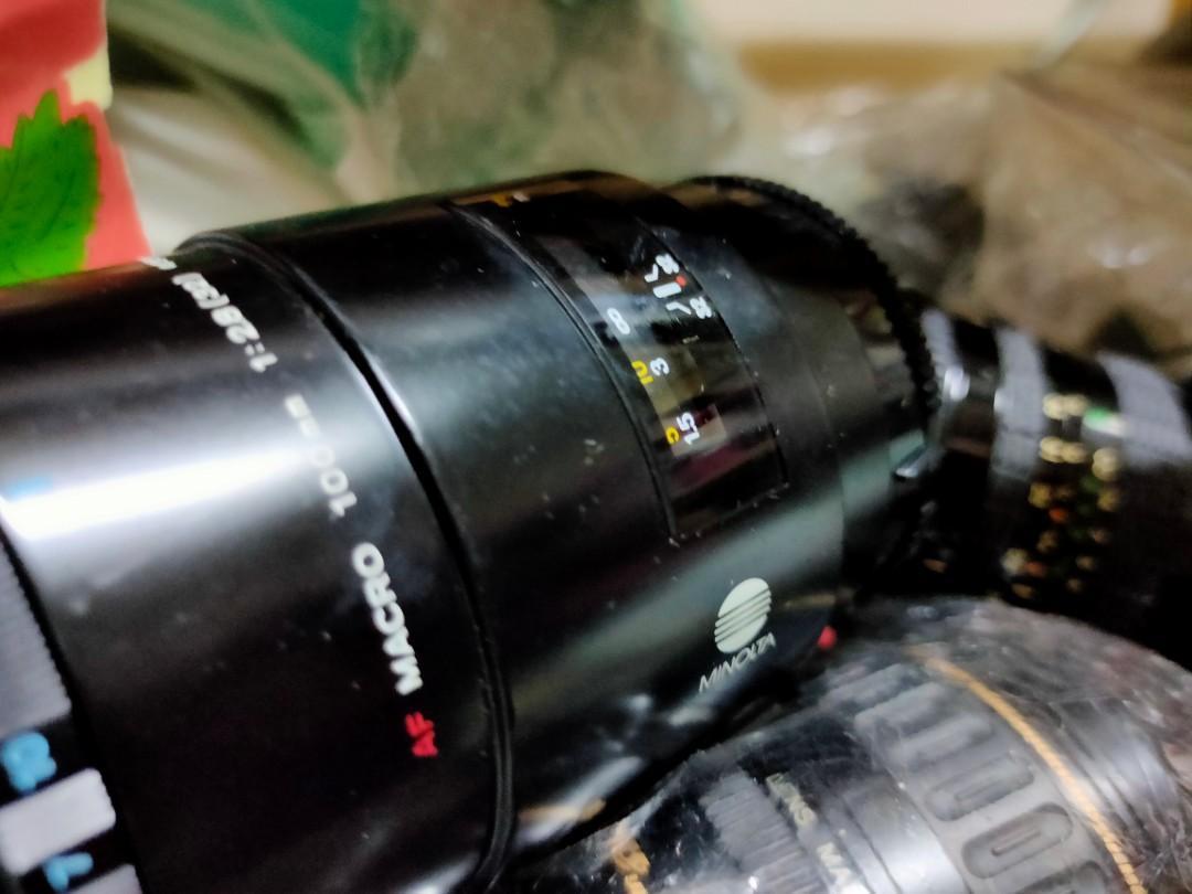 鏡頭 minolta for sony a 100mm 百微 微距鏡 有霉 不影響  f2.8 macro micro