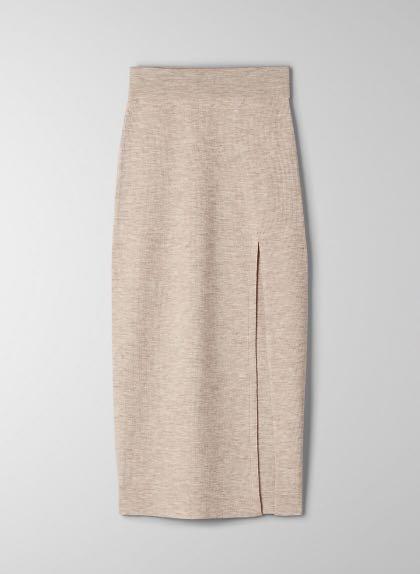 Aritzia Wilfred New Knit Slit Skirt