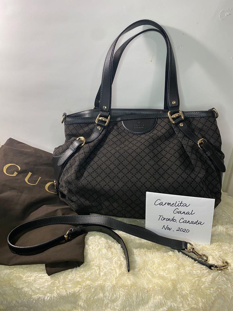 Authentic Gucci Diamante Bridle 2 way bag