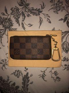 Authentic Louis Vuitton Damier Ebene Key Pouch