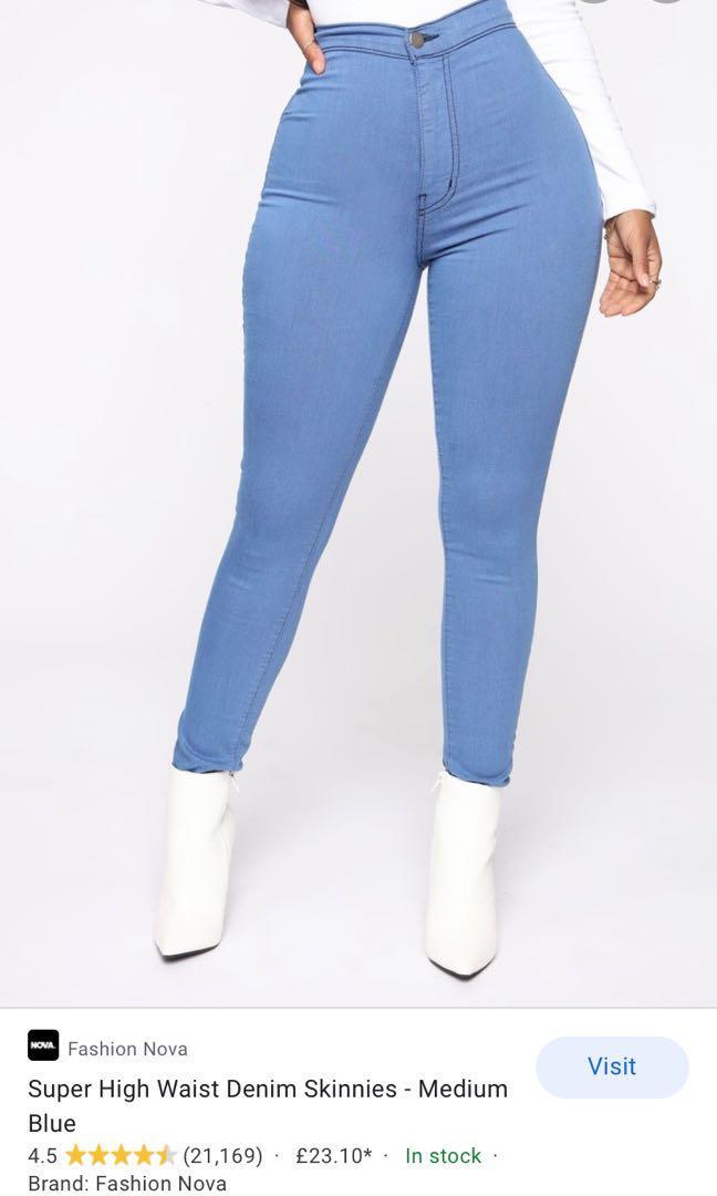 Blue Fashion Nova high waisted jeans