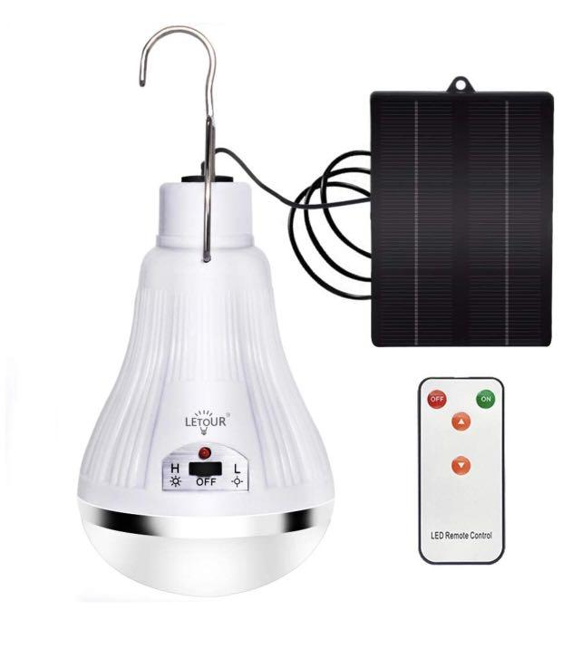 Brand new Solar Lights Camping Lamp with Solar Panel and Remote Control
