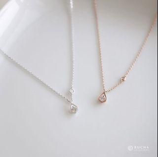 【BuCHA】韓-極光石項鍊 玫瑰金