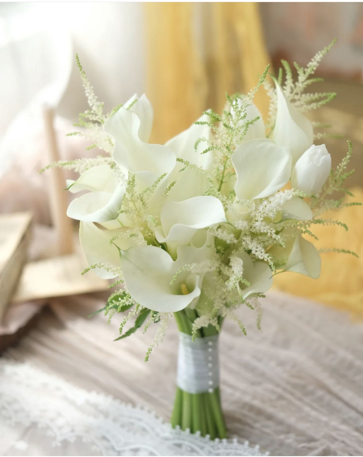 Calla Lily Bouquet Bridal Bouquet Calla Lily Flower Bouquet Flower Delivery Gardening Flowers Bouquets On Carousell