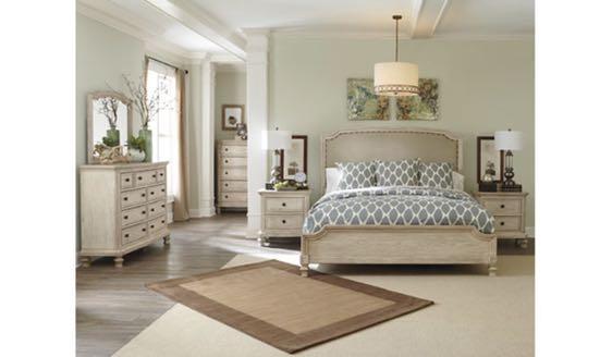 Demarlos Queen Upholstered Panel Bed Set