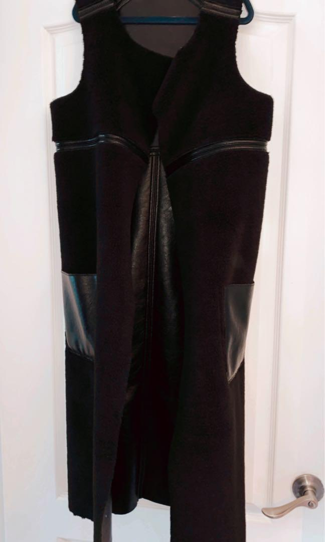 Double Sided Winter leather vest from Marciano size S