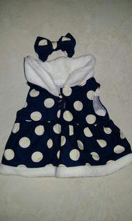 Baju Dress Polkadot Teddy Beary (BISA UNTUK TEDDY HOUSE UKURAN 14 inch)