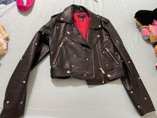 Faux Leather  Jacket small
