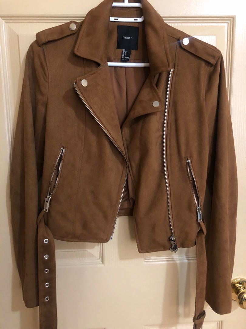 Forever 21 faux suede jacket