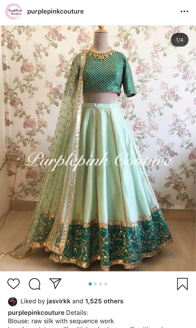 Green/ Mint lengha