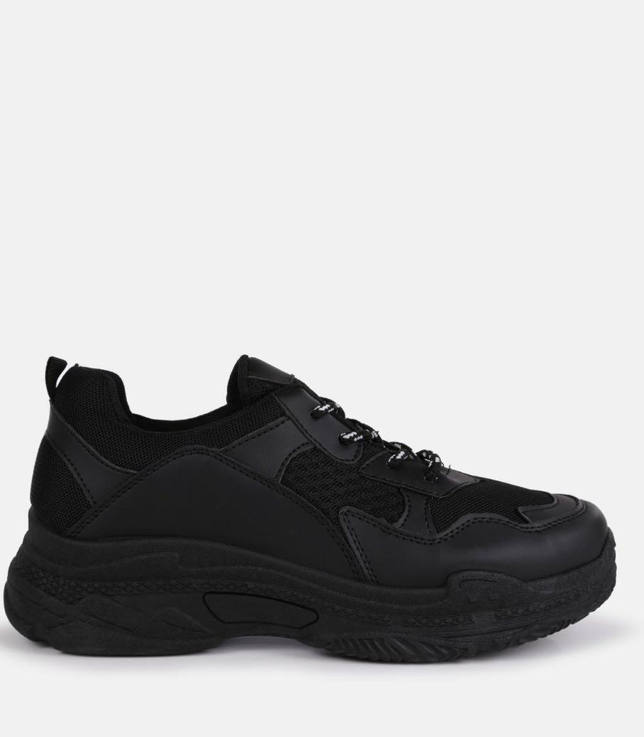 NEW Chunky Black Trainers Missguided