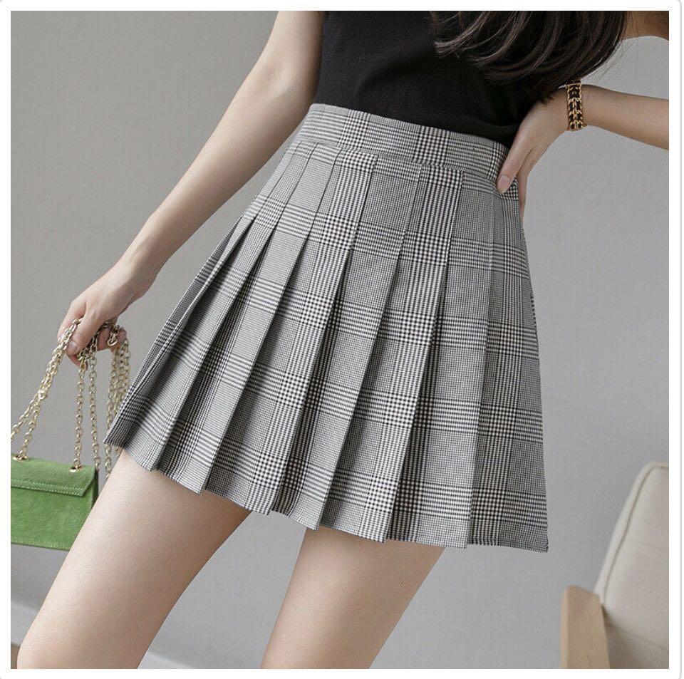 NWT | High Waisted Plaid Tennis Skirt Size S/M