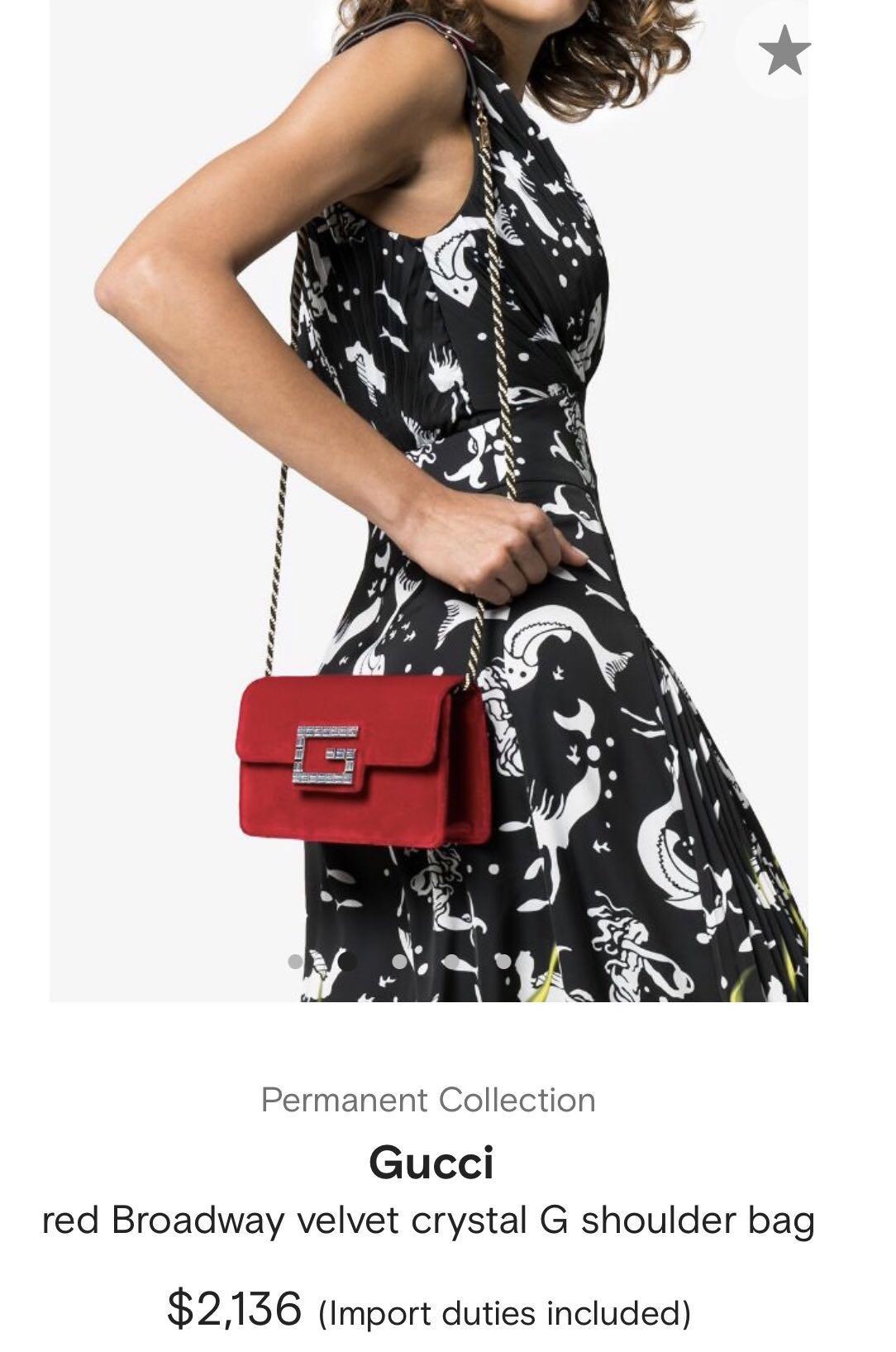 Pink Velvet Gucci bag