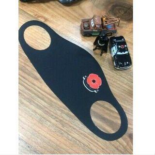 Reusable Redpoppy rememberance day mask