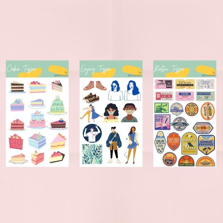 Sticker Tumblr Matte | Sticker Aesthetic Matte