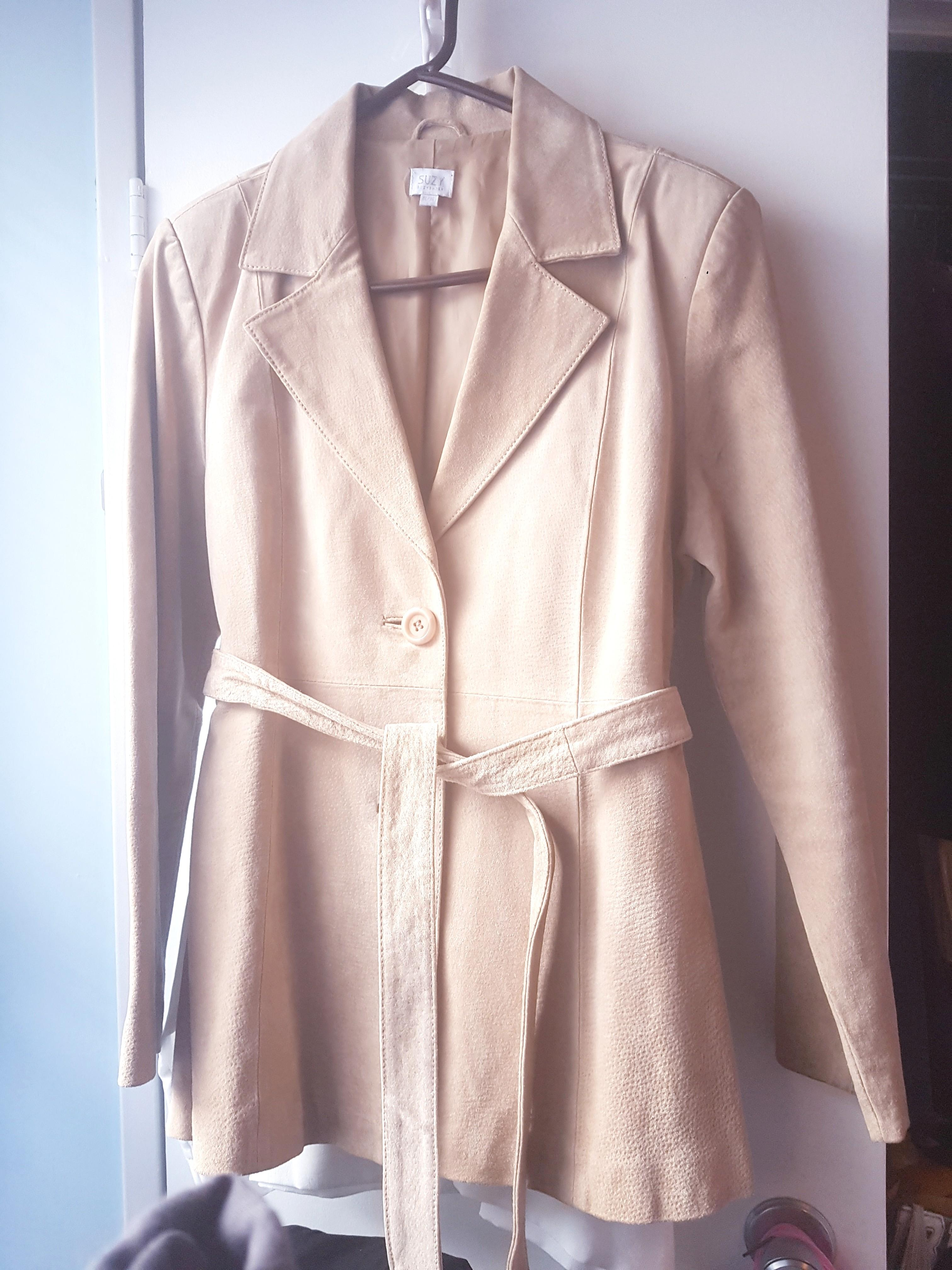 Suede Leather Jacket Coat NEW