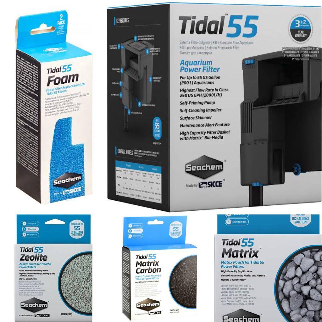 Tidal 55 Aquarium filters  (Bundle)