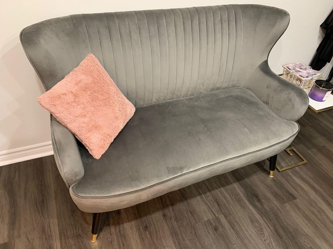 Velvet sofa chair