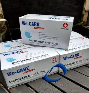 We Care masker 3ply 50pcs