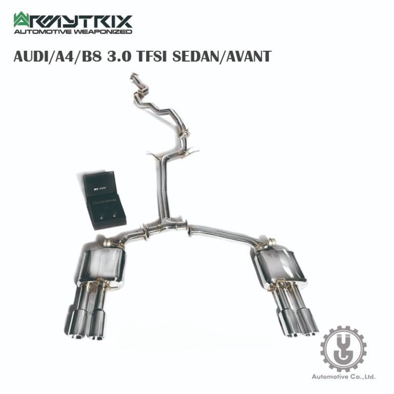 【YGAUTO】Armytrix AUDI/A4/B8 3.0 TFSI SEDAN/AVANT 排氣系統 正品空運