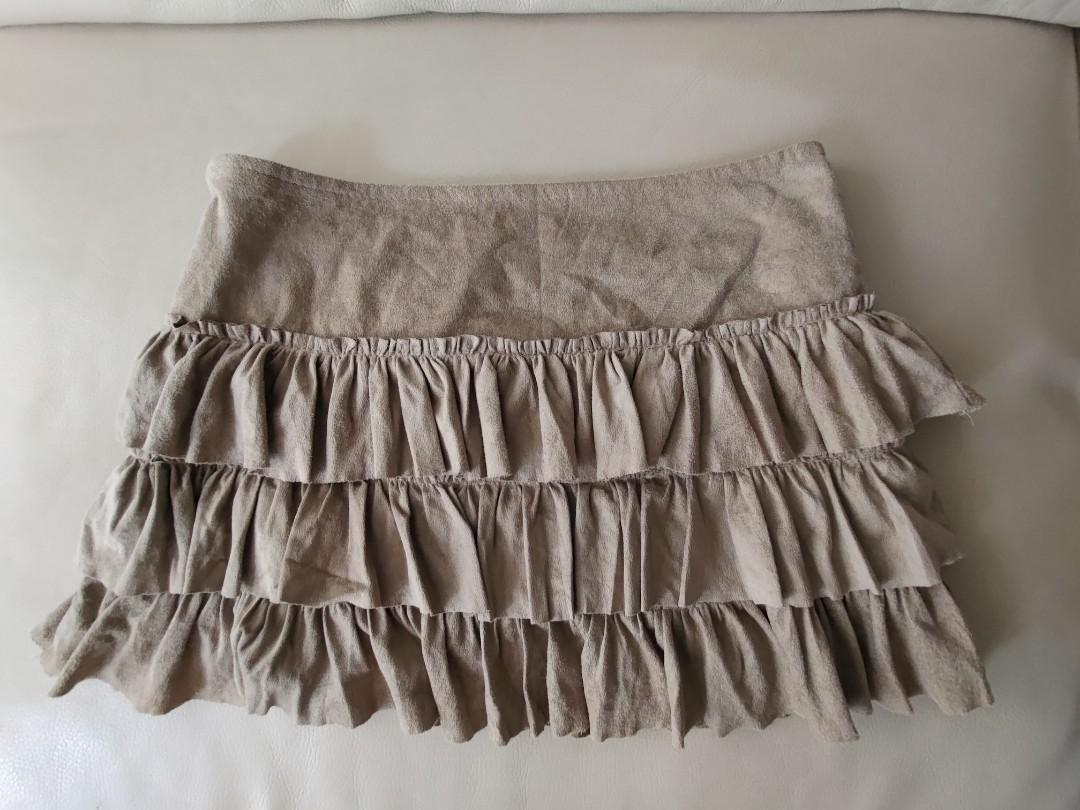 麂皮 超短裙