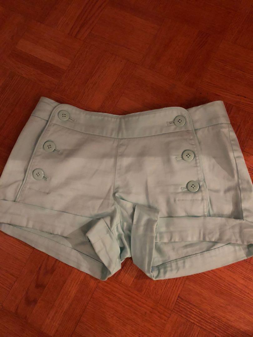 Aritzia teal shorts