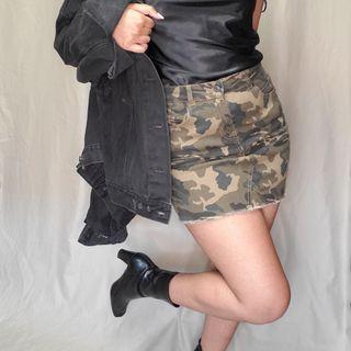 Army mini skirt