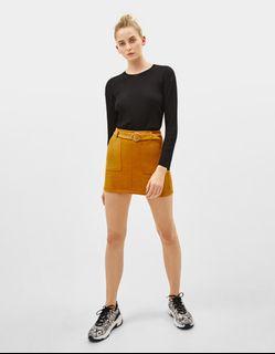 BERSHKA Ribbed Knitted Sweater