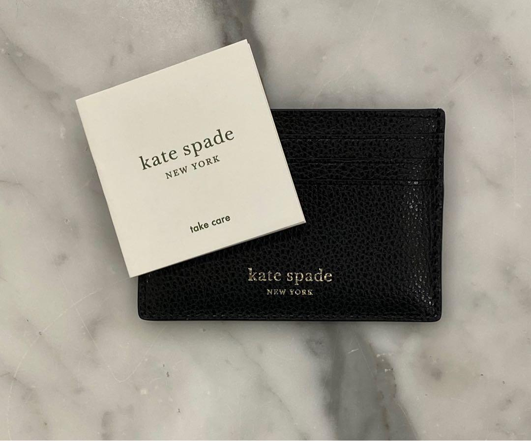 BNWT AUTHENTIC KATE SPADE BLACK LEATHER CARDHOLDER