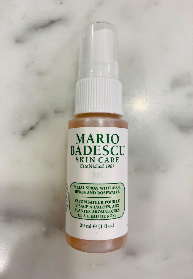brand new mini mario badescu facial spray with aloe, herbs & rosewater