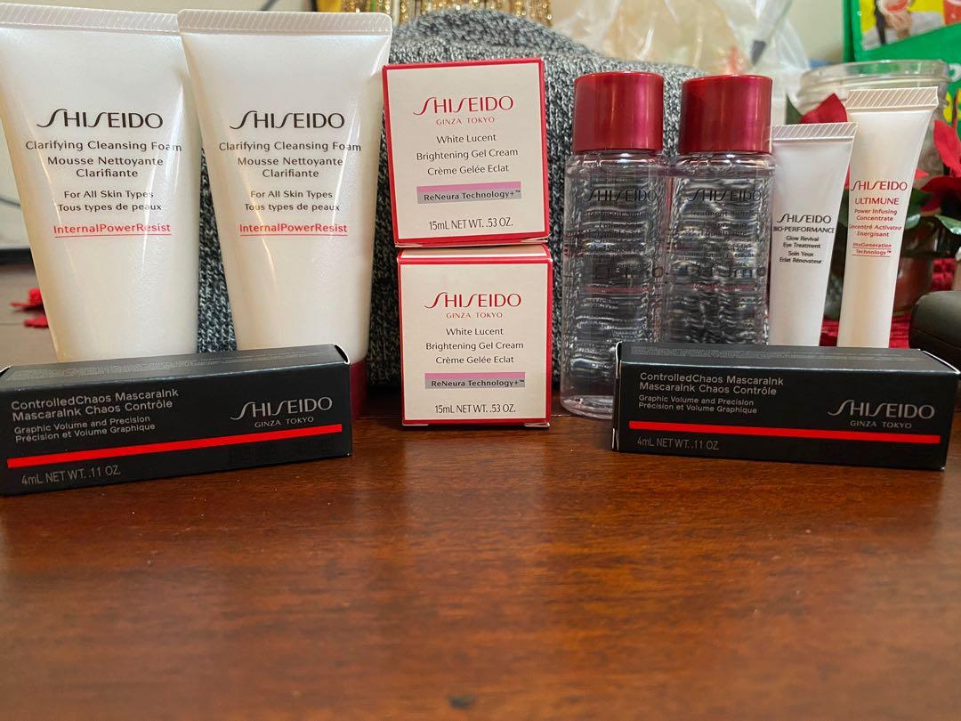 Brand New Shiseido Travel Size Products LOT