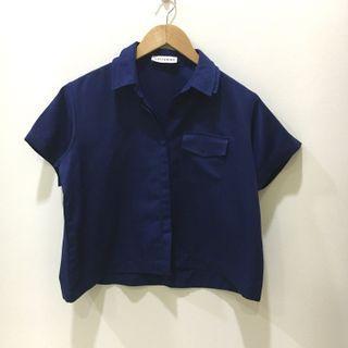 Cottonink navy blue shirt