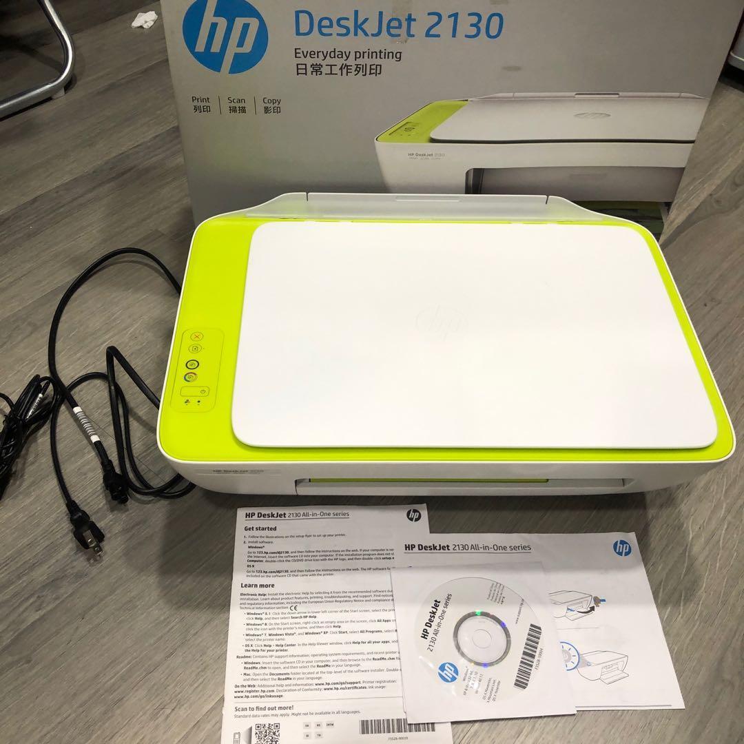 近全新HP deskjet 2130多功能噴墨事務機 列印影印掃描 2019購入