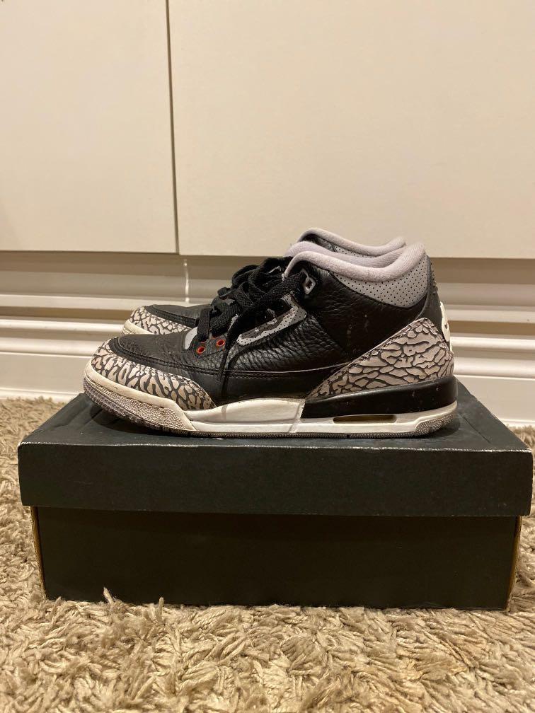 Jordan 3's Black Cements