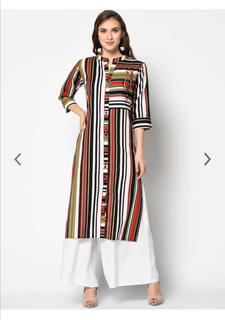 Kvsfab Women Multicoloured Striped Straight Kurta, Product Code: 12716762https://www.facebook.com/110603567508599/posts/126115965957359/
