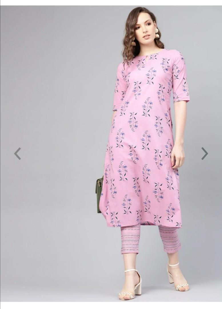 Libas Floral Bliss Side Pocket Cotton Kurta Set, Product Code: 10356859