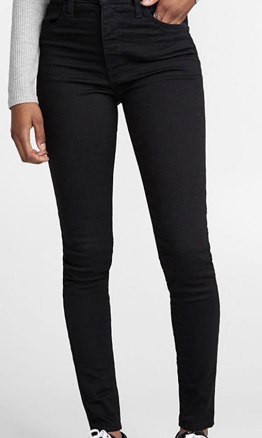 Mile High Super Skinny Black Jeans