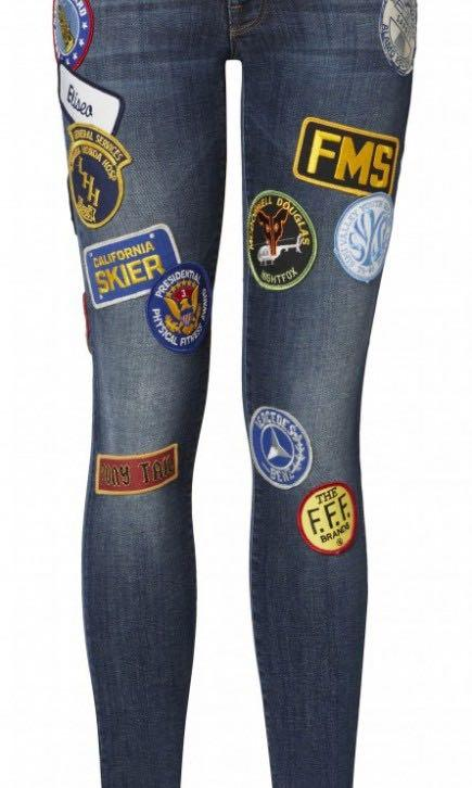 Mother patch denim jeans