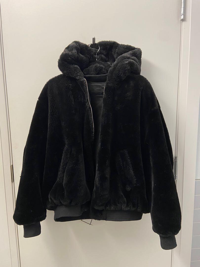 Reversible faux fur Zara jacket SZ S-M