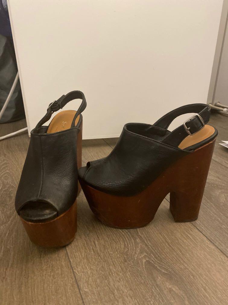 Size 5 Chunky Platform Heels