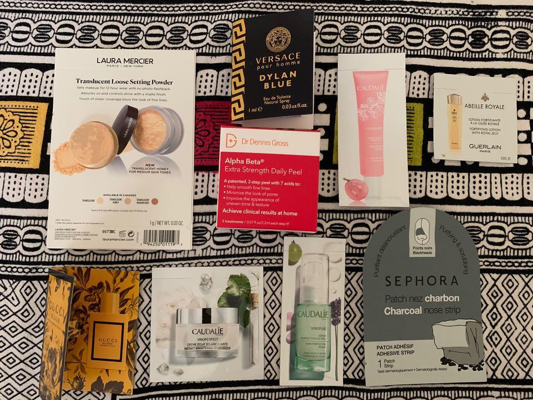 Skincare beauty makeup sample bundle set