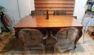 6 Seater Narra Dining Table SET
