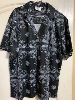 黑色變形蟲古巴襯衫