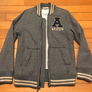A&F 純棉棒球外套